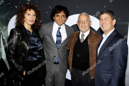 Donna Langley (Chairman Universal Pictures), M Night Shyamalan, M. Ron Meyer (Vice Chairman NBCUniversal), Jeff Shell (Chairman Filmed Ent. Croup)