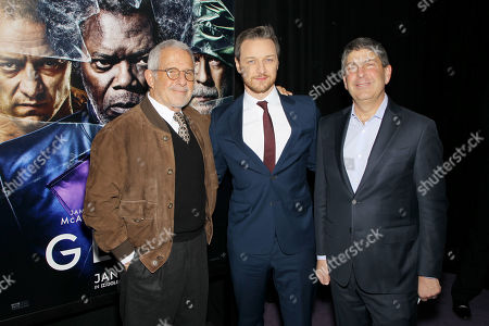 Ron Meyer (Vice Chairman NBCUniversal), James McAvoy, Jeff Shell (Chairman Filmed Ent. Croup)
