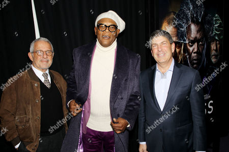 Ron Meyer (Vice Chairman NBCUniversal), Samuel L. Jackson, Jeff Shell (Chairman Filmed Ent. Croup)
