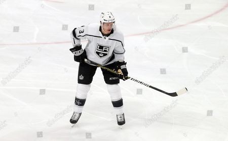 Los Angeles Kings' Dion Phaneuf plays against the Minnesota Wild in an NHL hockey game, in St. Paul, Minn