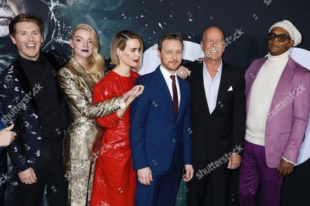 Spencer Treat Clark, Anya Taylor-Joy, Sarah Paulson, James McAvoy, Bruce Willis and Samuel L. Jackson