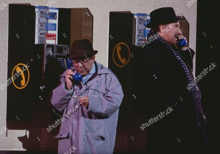 Ronnie Corbett and Christopher Benjamin performing
