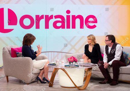 Stock Photo of Lorraine Kelly, Kellie Shirley and Adam Woodyatt