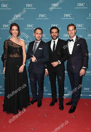 Moritz Bleibtreu, Elyas M'Barek (M Barek), Franziska Gsell (IWC Chief Marketing Officer), Gastgeber CEO Christoph Grainger-Herr