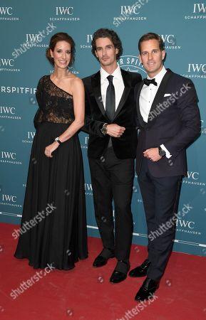 Patrick Seabase, Franziska Gsell (IWC Chief Marketing Officer), Gastgeber CEO Christoph Grainger-Herr