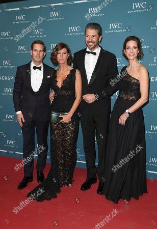 Andrea Berton, wife Sandra, Franziska Gsell (IWC Chief Marketing Officer), Gastgeber CEO Christoph Grainger-Herr
