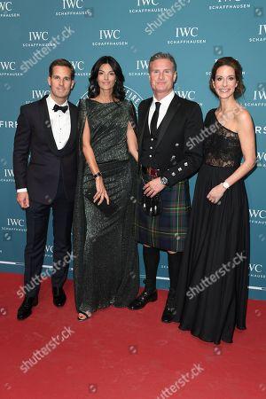David Coulthard, Karen Minier, Franziska Gsell (IWC Chief Marketing Officer), Gastgeber CEO Christoph Grainger-Herr