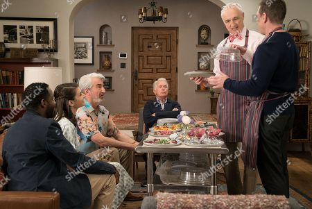 Baron Vaughn as Nwabudike Bergstein, Lindsey Kraft as Allison, Sam Waterston as Sol Bergstein, Martin Sheen as Robert, Michael Gross as Jeff and Tim Bagley as Peter