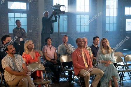 Peter Cambor as Barry, June Diane Raphael as Brianna Hanson, Sam Waterston as Sol Bergstein, Ethan Embry as Coyote Bergstein and Brooklyn Decker as Mallory Hanson