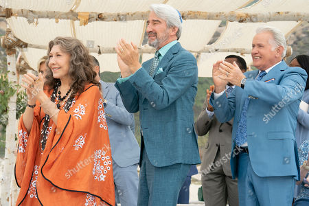 Stock Photo of Lily Tomlin as Frankie Bergstein and Sam Waterston as Sol Bergstein and Martin Sheen as Robert