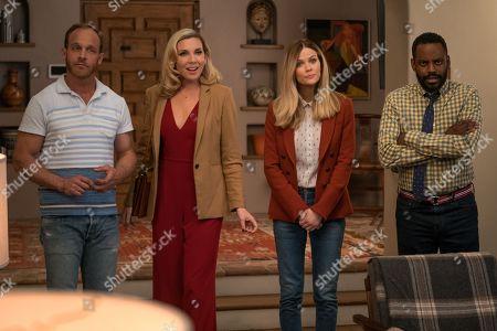 Ethan Embry as Coyote Bergstein, June Diane Raphael as Brianna Hanson, Brooklyn Decker as Mallory Hanson and Baron Vaughn as Nwabudike Bergstein
