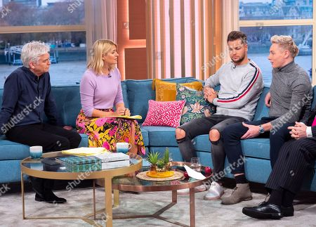 Phillip Schofield and Holly Willoughby with Dr Chris Steele, Chris Hughes and Ben Hughes
