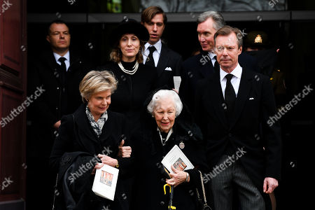 Stock Picture of Grand Duke Henri of Luxembourg, Princess Sibilla of Luxembourg, Hereditary Grand Duke Guillaume of Luxembourg of Luxembourg