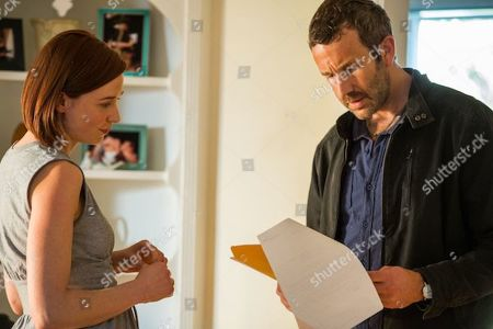 Lucy Walters as Katie Daly and Chris O'Dowd as Miles Daly