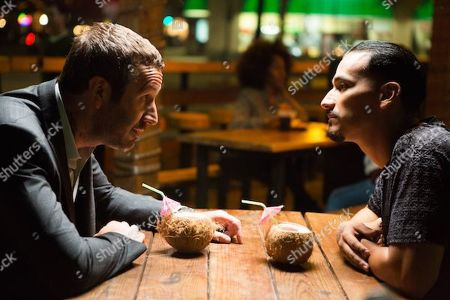 Chris O'Dowd as Miles Daly and Goya Robles as Yago