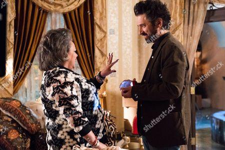 Lidia Porto as Amara De Escalones and Ray Romano as Rick Moreweather and