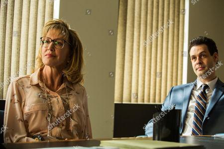 Stock Photo of Felicity Huffman as Agent Clara Dillard and Andrew Leeds as Agent Ken Stevenson
