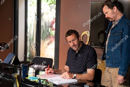 Chris O'Dowd as Miles Daly and Sean Bridgers as Louis Darnell