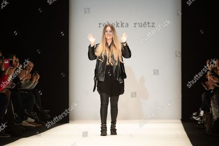 Austrian designer Rebekka Ruetz greets the audience after presenting her collection during the Mercedes-Benz Fashion Week in Berlin, Germany, 16 January 2019. The Fall/Winter 2019/20 collections are presented at the MBFW Berlin from 15 to 18 January.