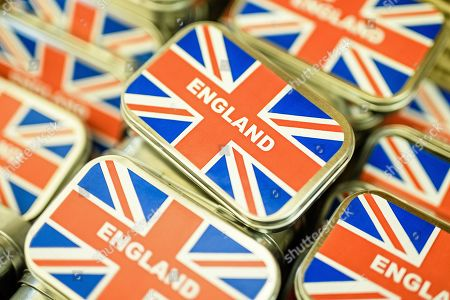 Tins with candy showing the Union Jack and reading 'England' seen at the shop Broken English in Berlin, Germany, 16 January 2019. 24 years Dale Carr and her husband Robin run the little British specialties shop Broken English in the Berlin district Kreuzberg. Originally started, as a gift shop, clients requests for original British goods and groceries increased the range of product inventory. Broken English offers Marmite, orange marmalade as well as English tea and cosmetic products. On 29 March 2019 the shop will shut down. The expected problematic with customs regulations and non-EU ingredients declarations, makes it impossible to continue, selling British products in the EU country Germany. Dale Carr and her husband are about to retire and think about moving to the south of Europe.