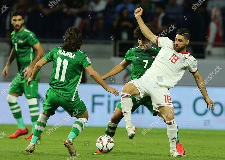 Editorial image of Emirates Soccer AFC Asian Cup Iran Iraq, Dubai, United Arab Emirates - 16 Jan 2019