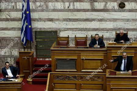 Editorial picture of Debate on the vote of confidence in the Geek government, Athens, Greece - 16 Jan 2019