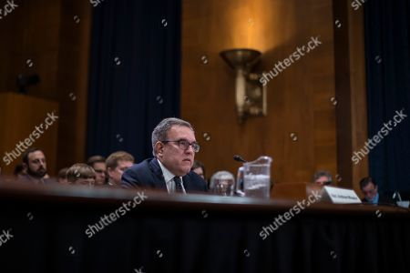Acting Environmental Protection Agency administrator Andrew Wheeler attends his full confirmation hearing with the Senate Environment and Public Works Committee on Capitol Hill in Washington, DC, USA, 16 January 2019. If confirmed, Wheeler would permanently replace former EPA administrator Scott Pruitt.