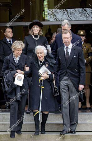 Editorial photo of Funeral of Count Philippe de Lannoy, Anvaing, Belgium - 16 Jan 2019
