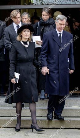 Stock Photo of Princess Sibilla of Luxembourg and Hereditary Grand Duke Guillaume of Luxembourg