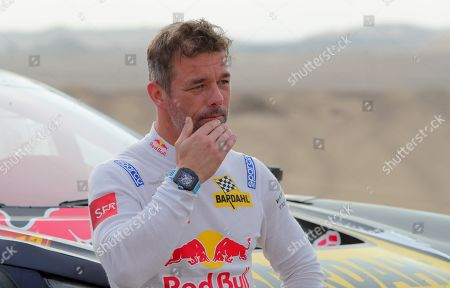 French Sebastien Loeb before the ninth stage of the Rally Dakar 2018, in Pisco, Peru, 16 January 2019.