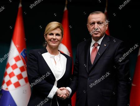President of Croatia Kolinda Grabar-Kitarovic visit to Turkey