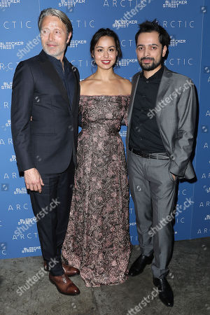 Stock Photo of Mads Mikkelsen, Maria Thelma Smaradottir and Joe Penna (Director)