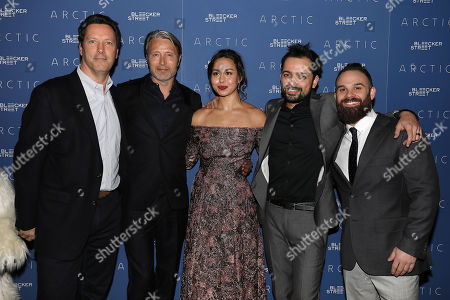Andrew Karpen (Bleecker Street), Mads Mikkelsen, Maria Thelma Smaradottir, Joe Penna (Director) and Ryan Morrison