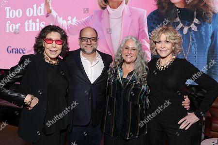 Lily Tomlin, Exec. Producer Howard J. Morris, Exec. Producer Marta Kauffman and Jane Fonda