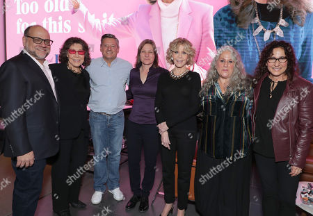 Exec. Producer Howard J. Morris, Lily Tomlin, Ted Sarandos - Netflix Chief Content Officer, Cindy Holland - Netflix VP Original Content Series, Jane Fonda, Exec. Producer Marta Kauffman and Exec. Producer Marcy Ross