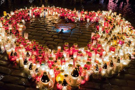 Gdansk Mayor Candlight Vigil, Warsaw