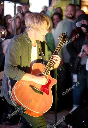 Jon Foreman performs at the Switchfoot album release at the Microsoft Lounge on in Culver City, Calif