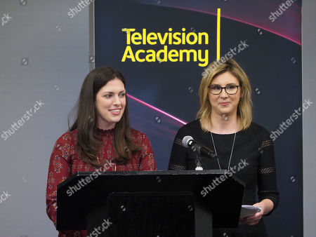 Sarah-Raquel Jimenez, Jennie Wolfgram. Sarah-Raquel Jimenez and Jennie Wolfgram participate in the reading of their new teleplay during the Young Writers to Watch Showcase at the Television Academy's Saban Media Center on in North Hollywood, Calif
