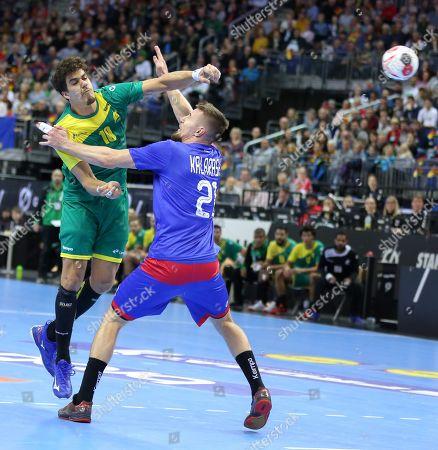 Jose Toledo for Brazil (10) against Gleb Kalarash for Russia (21)