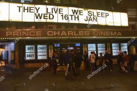 Editorial image of 'They Live' film promotion at The Prince Charles Cinema, London, UK - 16 Jan 2019