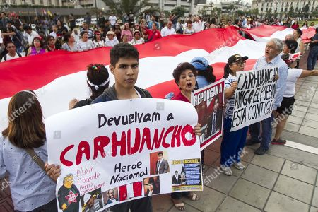Editorial image of Protest in Lima against the recusal of a judge, Peru - 16 Jan 2019