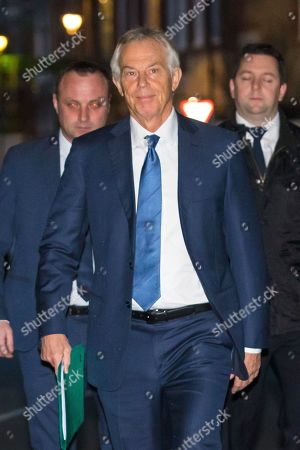 Tony Blair out and about, London