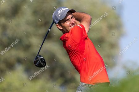 Eduardo Molinari of Italy tees off on the 6th hole, during the second round of the Abu Dhabi HSBC Golf Championship in Abu Dhabi, United Arab Emirates, 17 January 2019.