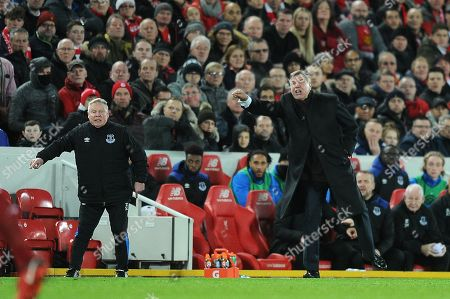 Fa Cup 3rd Round. Liverpool V Everton. 05/01/18: Picture Kevin Quigley/daily Mail. Everton Manager Sam Alladyce And Coach Sammy Lee.
