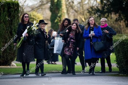 Max Clifford Is Cremated At Randalls Cremitorium Leatherhead 10th January 2017. Pictured Is Clifford's Daughter Louise Third From Right. Please Note Pictures Are Taken Within Crematorium Please Legal.