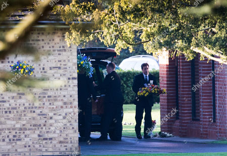 Editorial photo of Max Clifford Is Cremated At Randalls Cremitorium Leatherhead 10th January 2017. Please Note Pictures Are Taken Within Crematorium Please Legal.