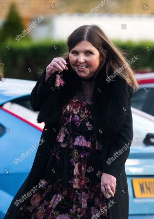 Stock Image of Max Clifford Is Cremated At Randalls Cremitorium Leatherhead 10th January 2017. Pictured Is Clifford's Daughter Louise. Please Note Pictures Are Taken Within Crematorium Please Legal.