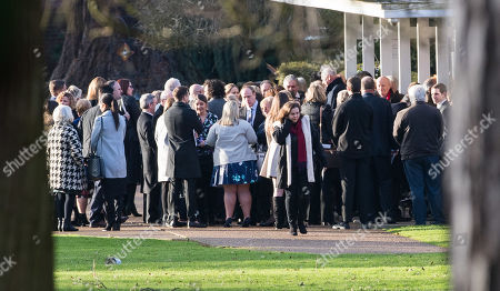 Max Clifford Is Cremated At Randalls Cremitorium Leatherhead 10th January 2017. Please Note Pictures Are Taken Within Crematorium Please Legal.