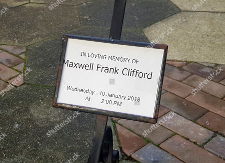 Editorial picture of Max Clifford Is Cremated At Randalls Cremitorium Leatherhead 10th January 2017. Please Note Pictures Are Taken Within Crematorium Please Legal.