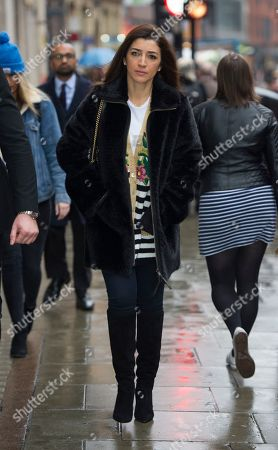 Fabiana Flosi Bernie Ecclestone's Wife Arrives At The Family Court Holborn London. Petra Ecclestone Is In A Divorce And Custody Row With Her Ex Husband James Stunt 2018/01/11.